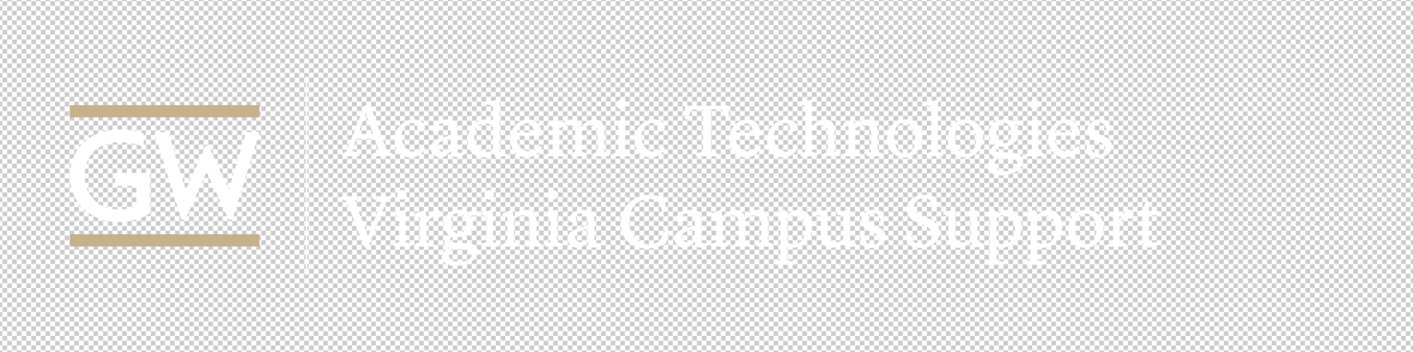 AT VSTC Support logo buff and white