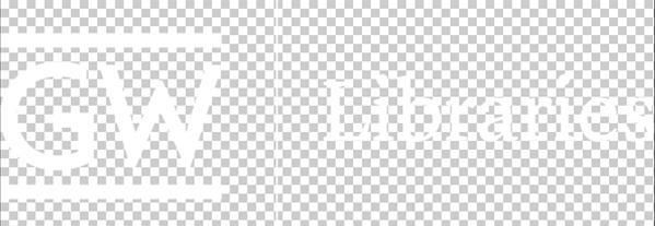 GW Libraries logo white