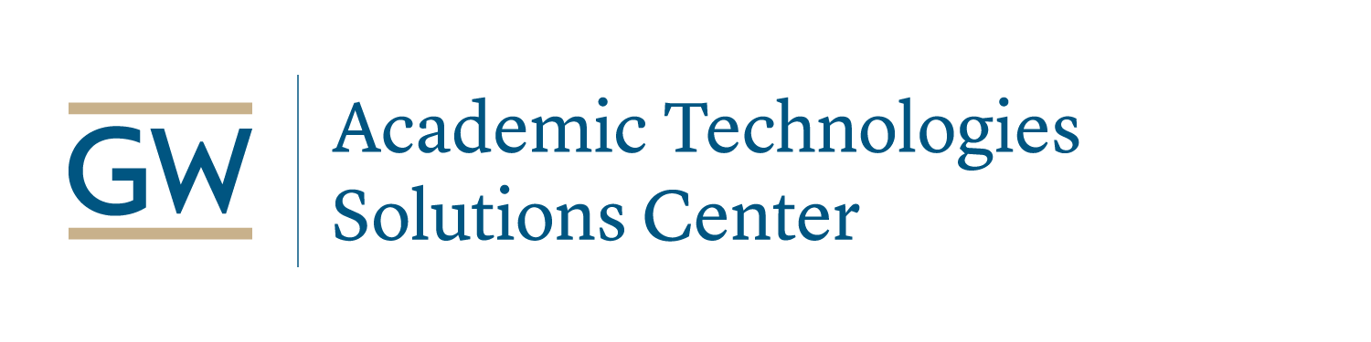 AT Solutions Center logo buff and blue