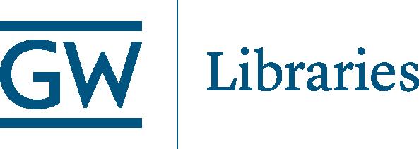 GW Libraries logo blue