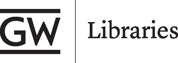 GW Libraries logo black