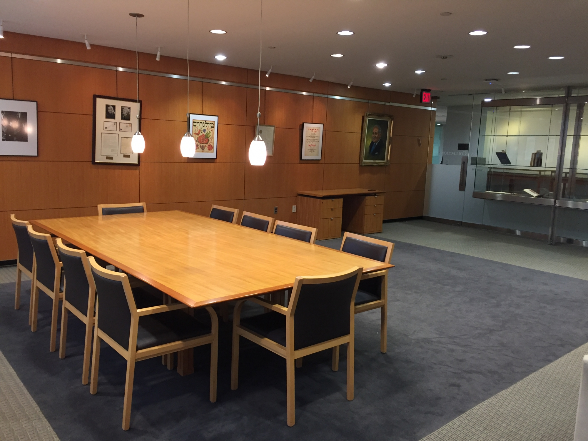 Gelman Library academic event space room 710 view of tables