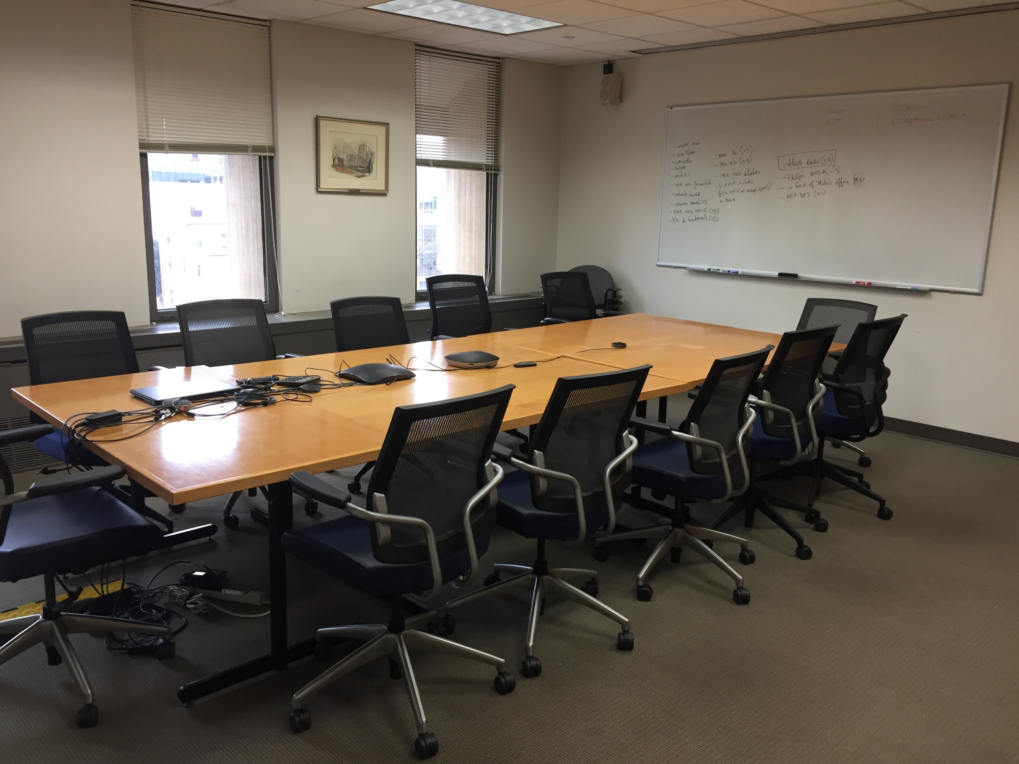 Gelman Library Conference Room 605A Capacity 14 people