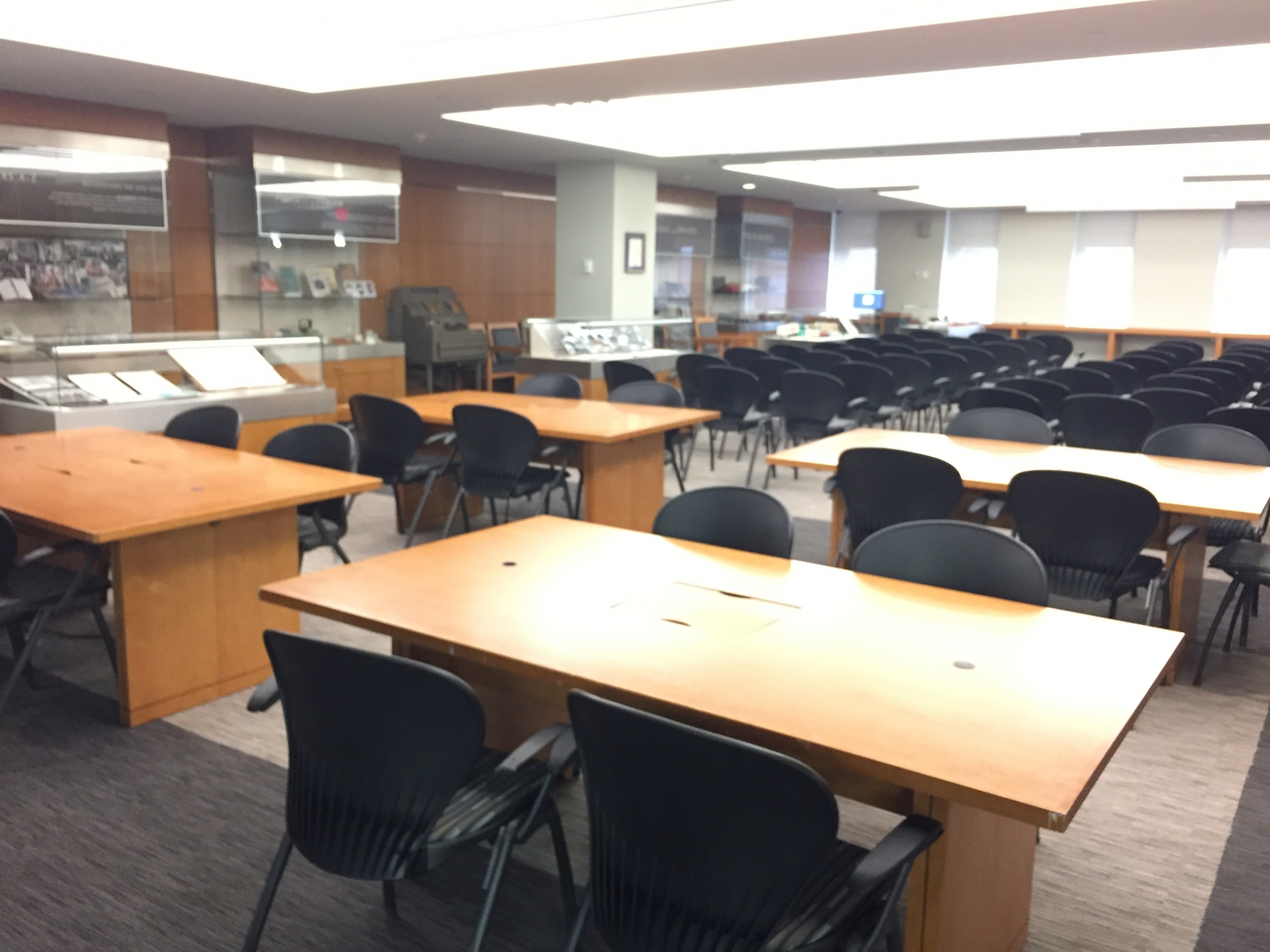 Gelman Library International Brotherhood of Teamsters room 702 view from right back corner