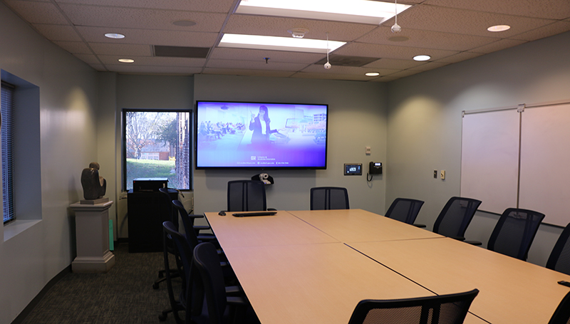 View of Conference Room - 4 windows, 3 whiteboards, 12 chairs