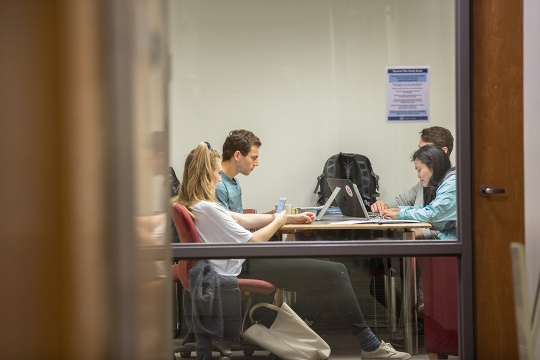 Students studying at finals